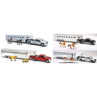New-ray Toys 1:32 Scale Die Cast Ford/Dodge Fifth Wheel Truck Assortment with Animals at Sears.com