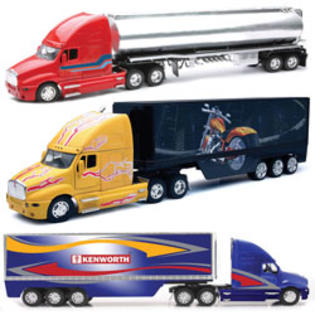 New-ray Toys 1:32 Scale Die Cast Kenworth T2000 Tanker/Containers Truck Assortment - 2 Each 3 at Sears.com