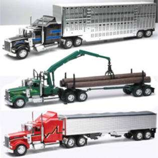 New-ray Toys 1:32 Scale Die Cast Kenworth W900 Livestock/Grain/Log Truck Assortment-2 Each 3 at Sears.com
