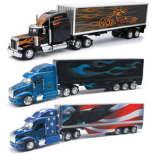 New-ray Toys 1:32 Scale Die Cast Peterbilt Trucks W/New Trailer Graphics Assortment-2 Each 3 at Sears.com