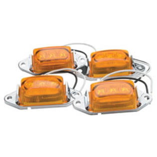 "RoadPro 1-3/4 ""X 1"" Led Clearance/Marker Lights Value Pack Amber, 4-Pack at Sears.com"