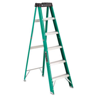 Louisville #592 Six-Foot Folding Fiberglass Step Ladder, Green/Black at Sears.com