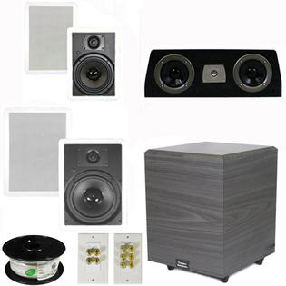 "Theater Solutions 5.1 Home Theater 8"" and 6.5"" Speakers Set with Center, 8"" Powered Sub and More TS6W8WC51SET2 at Sears.com"
