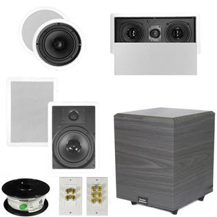 "Theater Solutions 5.1 Home Theater 8"" Ceiling and Wall Speakers, Center, 8"" Powered Sub and More TS80CWL51SET2 at Sears.com"