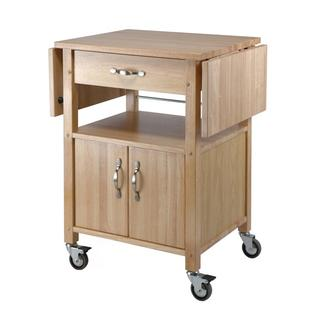 Winsome Beech Kitchen Cart, Double Drop Leaf, Cabinet with shelf at Sears.com