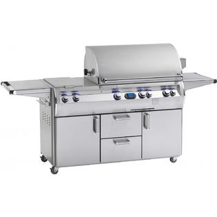 Fire Magic Echelon Diamond E660s Propane Gas Grill With Double Side Burner One Infrared Burner And Power Hood On Cart at Sears.com