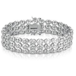 szul.com 1.00 Carat Diamond Antique Bracelet in .925 Sterling Silver at Sears.com