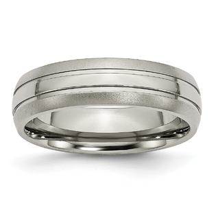 Findingking Titanium Grooved 6mm Mens Wedding Ring Band Sz 9.5 at Sears.com