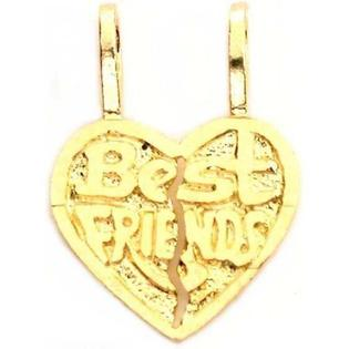Findingking 14K Best Friends Heart Charm Breakable Necklace Jewelry at Sears.com