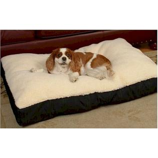 Snoozer Dog Supplies Snoozer Rectangular Sherpa Top Dog Bed - Extra Large - Medium Blue at Sears.com