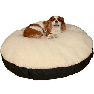Snoozer Dog Supplies Snoozer Round Sherpa Top Dog Bed - Extra Large - Blackwatch Plaid at Sears.com