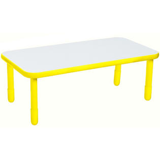 Angeles Corporation (AGC) ANGELES30X60 RECTANGULAR TABLE-Canary yellow-24 at Sears.com