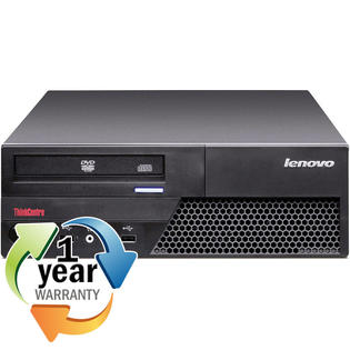 Lenovo REFURBISHED IBM Lenovo M58p Core 2 Duo 3.0GHZ 4GB 400GB DVD Win 7 Home Desktop Computer at Sears.com