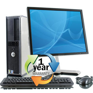 "Dell REFURBISHED Dell Optiplex GX755SFF C2D 3.0GHz 4GB 80GB Win 7 Pro64 Desktop Computer+17"" LCD at Sears.com"