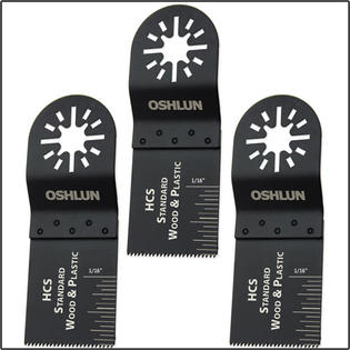 Oshlun MMA-0303 Oscillating Tool High Carbon Steel Saw Blade - 3 Blade Pack