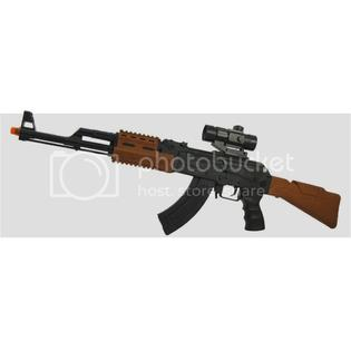 "Army Military Rifle 32"" AK47 SWAT Team Assault Rifle Machine Gun Toy with Light Scope & Shooting Sounds at Sears.com"