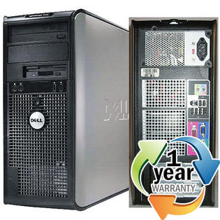 Dell REFURBISHED Dell Optiplex 745 C2D 1.86GHz 1GB 80GB DVD-RW Win XP Desktop Tower Computer at Sears.com