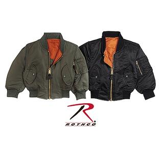 Rothco 7310 Kids MA-1 Style Flight Jacket - X-Small - Black at Sears.com