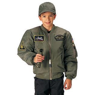 Rothco 7340 Kids Sage Top Gun MA-1 Flight Jacket - Small at Sears.com
