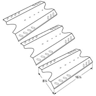BBQ Pro BQ05041-28, BQ51009 Gas Grill Replacement Heat Tent Heat Plate, 3 Pack at Sears.com