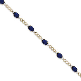 Allurez Diamond and Blue Sapphire Bracelet 14k Yellow Gold (5.02ct) at Sears.com