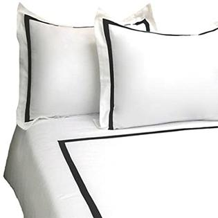 MARRIKAS 3 PC 300TC Cotton FULL/QUEEN WHITE-BLACK Duvet Cover Set at Sears.com